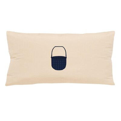 Embroidered Basket Indoor/Outdoor Sunbrella Lumbar Pillow Color: Pale Cream