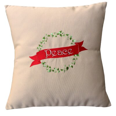 Holiday Peace Indoor/Outdoor Sunbrella Throw Pillow Size: 18 H x 18 W