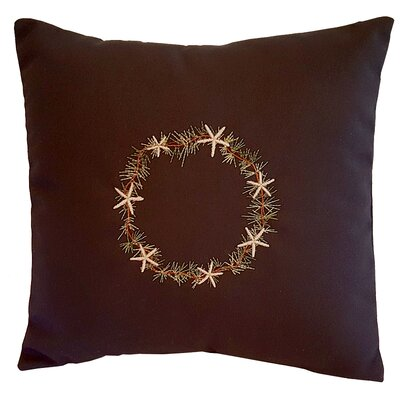 Starfish Throw Pillow Size: 14 H x 14 W x 3 D, Color: Navy