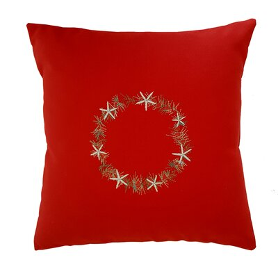 Starfish Throw Pillow Size: 14 H x 14 W x 3 D, Color: Red
