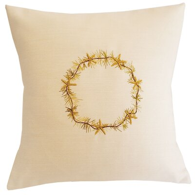 Starfish Throw Pillow Size: 18 H x 18 W x 3.5 D, Color: Light Cream