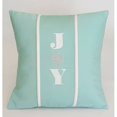 Joy Indoor/Outdoor Sunbrella Pillow Size: 14 H x 14 W x 3.5 D