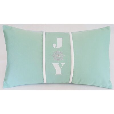 Joy Indoor/Outdoor Sunbrella Pillow Size: 12 H x 20 W x 3.75 D
