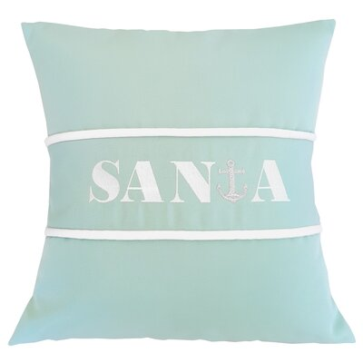 Santa Indoor/Outdoor Sunbrella Pillow Size: 18 H x 18 W x 3.5 D