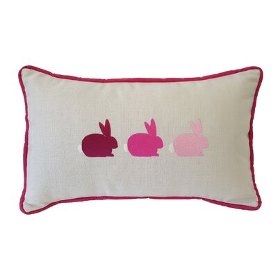 Bunnies Sunbrella Lumbar Pillow Color: Pink