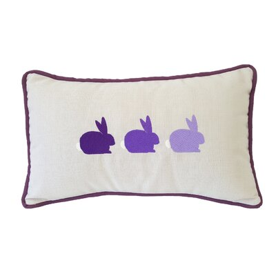 Bunnies Sunbrella Lumbar Pillow Color: Lilac