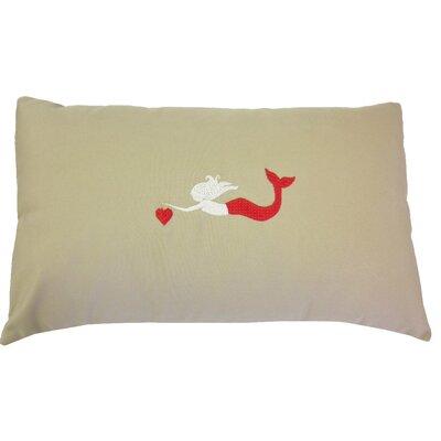 Valentines Mermaid Lumbar Pillow
