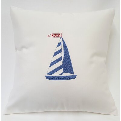 Valentines Sailboat Throw Pillow