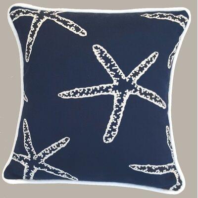 Beach Throw Pillow Color: Navy
