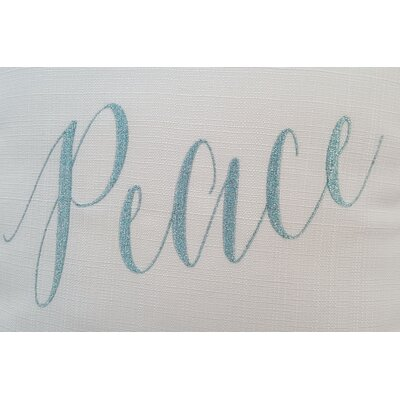 Paradis Peace Holiday Throw Pillow Size: 18 x 18