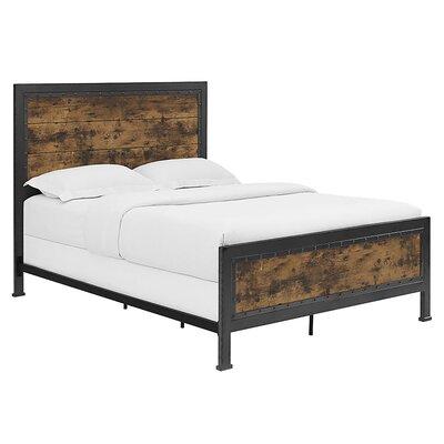 Berta Industrial Wood and Metal Queen Bed