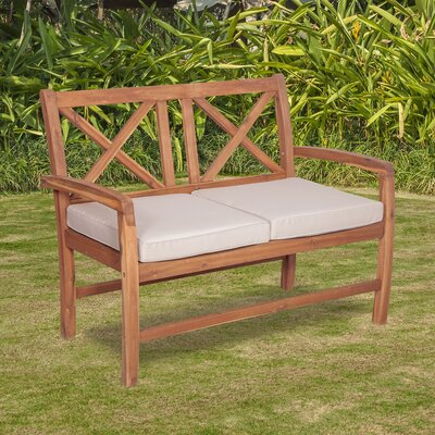 X Back Patio Loveseat with Cushions