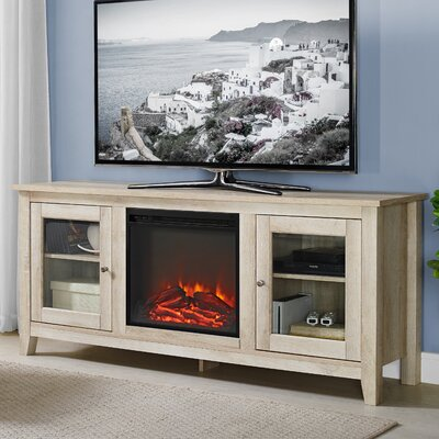 Inglenook 58 TV Stand with Fireplace Finish: White Oak