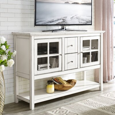 Sylar 52 TV Stand Color: Antique White