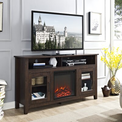 Kohn 58 TV Stand with Fireplace Finish: Traditional Brown