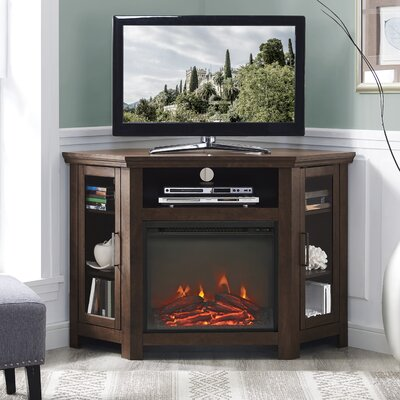 Rena Corner 48 TV Stand with Fireplace Finish: Traditional Brown
