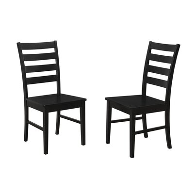 Sheetal Ladder Back Solid Wood Dining Chair Color: Black