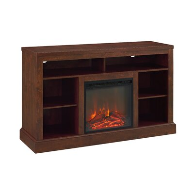 Mahaffey 52 TV Stand with Fireplace Color: Traditional Brown