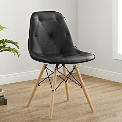 Rawley Side Chair Upholstery: Black