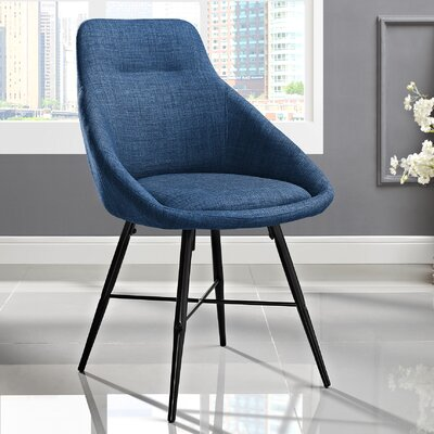 Vanwyk Urban Upholstered Side Chair (Set of 2) Upholstery: Blue