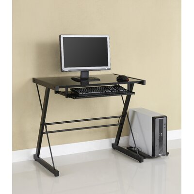 Techni Mobili Tempered Glass L-Computer Desk | Wayfair