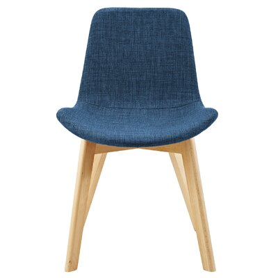 Vanwingerden Suede Side Chair Upholstery: Blue