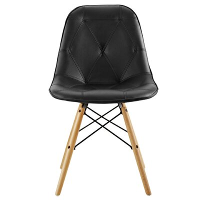 Rawley Side Chair (Set of 2) Upholstery: Black