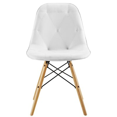 Rawley Side Chair (Set of 2) Upholstery: White