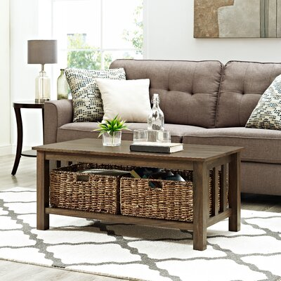 Denning Storage Coffee Table Color: Dark Walnut