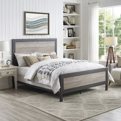 Berta Industrial Queen Bed Color: Gray Wash