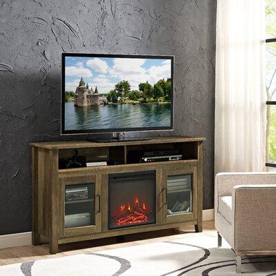 Kohn 58 TV Stand with Fireplace Finish: Rustic Oak