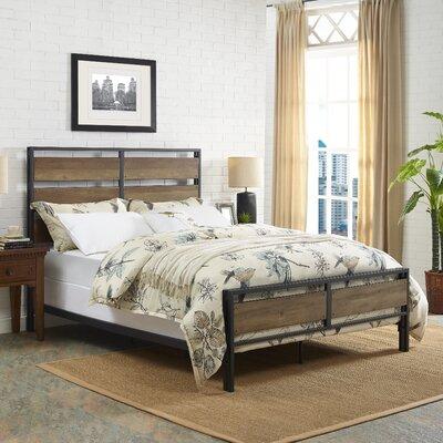 Fabienne Queen Panel Bed Color: Rustic Oak