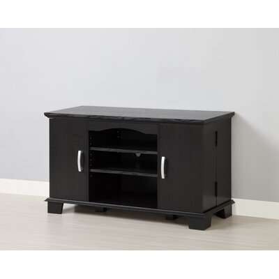 Cheap Home Loft Concept 42″ Wood TV Console with Mount and Storage – Black (WLK1245)