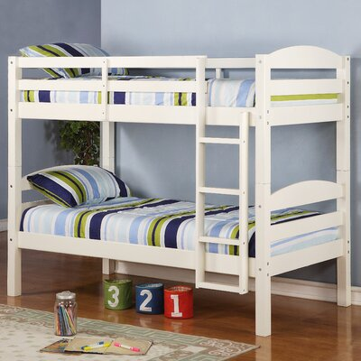 Home Loft Concept Twin Bunk Bed with Built-In Ladder - Finish: White at Sears.com