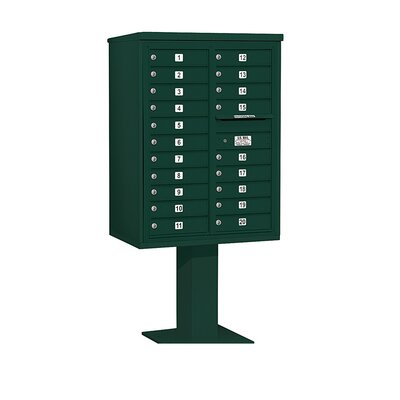 Salsbury Industries 4C Pedestal Mailbox 11 Door High Unit Double Column 20 Doors  - Color: Green at Sears.com