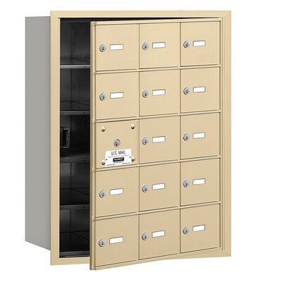 Salsbury Industries 4B+ 15 Door Front Loading Horizontal Mailbox for USPS Access - Finish: Sandstone at Sears.com