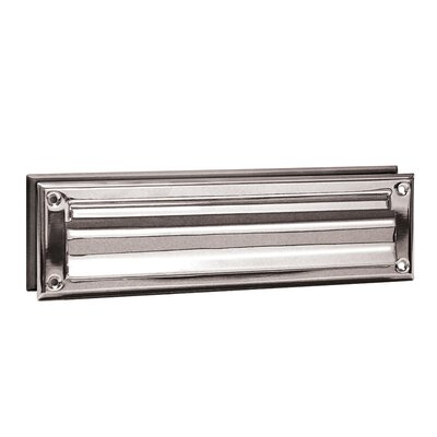 Mail Slot with Outgoing Mail Color: Chrome