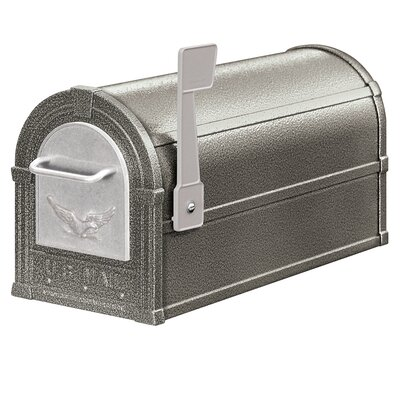 Post Mounted Mailbox with Outgoing Mail Color: Pewter / Silver