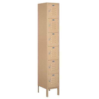 """6 Tier 1 Wide Employee Locker Color: Tan, Size: 78"""" H x 12"""" W x 15"""" D 66165TN-U"""