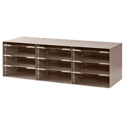 12 Compartment Sorting Rack Finish: Tan