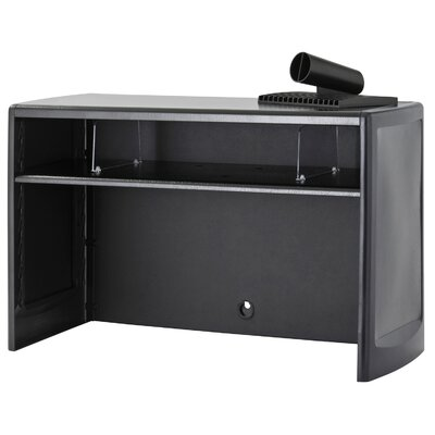 18.5 H x 30 W Desk Hutch Finish: Black