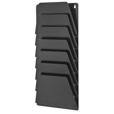 MirageTM 7 Pocket Wall Rack Finish: Black