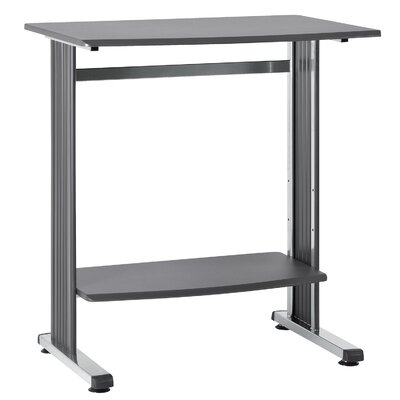 36.75 W Computer Table Tabletop Finish: Charcoal and Silver