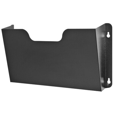 Letter Size Wall Pocket Finish: Black