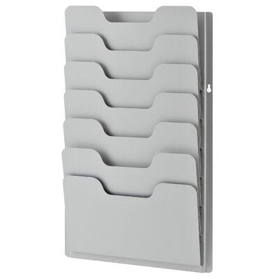 7 Pocket Data Rack Color: Platinum