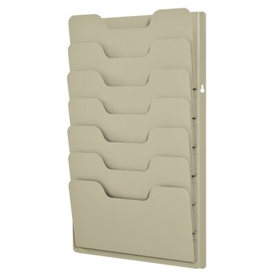 7 Pocket Data Rack Color: Putty