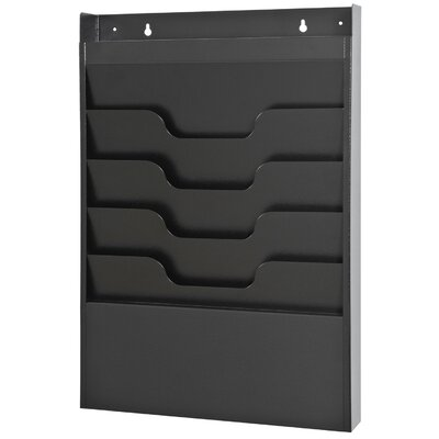 Task File Organizer Rack Finish: Black