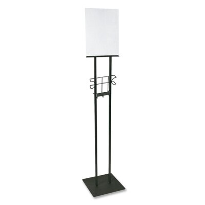 Lobby Sign Holder, Stand, 12x12x48, Black