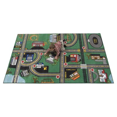 Durable Play Our Town Area Rug Rug Size: 6 x 9