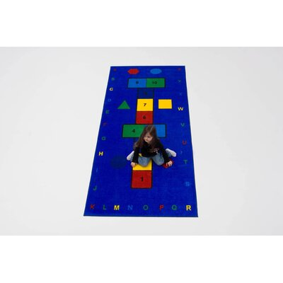 Hopscotch Blue/Yellow/Green Area Rug